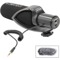 Comica CVM-V30-PRO-B Super-Cardioid Directional On-Camera Shotgun Mic with 3.5mm Jack - Black