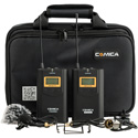 Comica CVM-WM100 Wireless Lavalier Microphone Kit - Transmitter/Receiver/Microphone/Accessories with Softcase