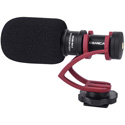 Comica CVM-VM10II-R Mini On-Camera Directional Shotgun Mic for Smartphones & DLSRs - Red