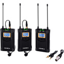 Comica CVM-WM100-PLUS Wireless Dual Microphone System and One Receiver