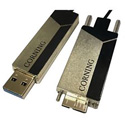 Corning COR-AOC-ABS2JME005M20 USB A 3.0 to USB Micro B 3.0 Optical Cable - 16.4 Feet/5 Meter