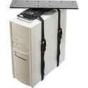 Penn-Elcom CPU-92B Universal Sliding and Swiveling Computer Holder - Black