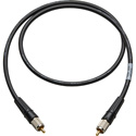 Laird CR-CR-18IN-BK Canare LV-61S RCA to RCA Video Cable - 18 Inch Black