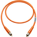 Laird CR-CR-18IN-OE Canare LV-61S RCA to RCA Video Cable - 18 Inch Orange