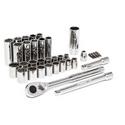 Crescent CTK35 35-Piece 3 / 8 Inch Drive 6 and 12 Point Standard & Deep SAE / Metric Mechanics Tool Set