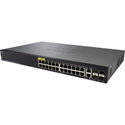 Cisco SG350-28MP-K9-NA 28-Port Gigabit PoE Managed Switch