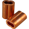 1/8 Copper Swage Sleeves - 100 Pack