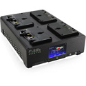 Core SWX FLEET-Q4UA Four Position 3-Stud Gold Mount Fast Simultaneous Li-Ion Charger with Touchscreen Diagnostic LCD