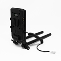 Core SWX 15mm Rail Mount Cheese Plate with V Mount Battery Plate 10in 2-Pin Coil Cable for Blackmagic Pocket 4K & 6K