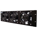 CT-FANRK-B-PLUS Triple Rackmount Fan with Reversible Assembly 120VAC - Black - Metal