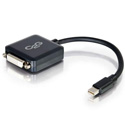 Cables To Go 54311 8 Inch Mini DisplayPort Male to Single Link DVI-D Female Adapter Converter - Black