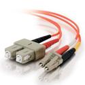 1m LC/SC Duplex 62.5/125 Multimode Fiber Patch Cable - Orange