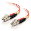 1m LC/LC Duplex 62.5/125 Multimode Fiber Patch Cable - Orange