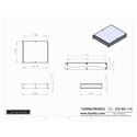 Connectronics CTX-MC-11A  Alum Project Box Cabinet 8.5 X 10 X 1.75