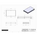 Connectronics CTX-MC-12A  Alum Project Box Cabinet 8.5 X 14 X 1.75