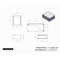 Connectronics CTX-MC-13A  Alum Project Box Cabinet 8.5 X 7 X 3.5