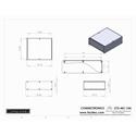 Connectronics CTX-MC-14A  Alum Project Box Cabinet 8.5 X 10  X 3.5