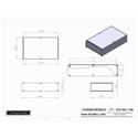 Connectronics CTX-MC-15A  Alum Project Box Cabinet 8.5 X 14  X 3.5