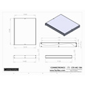 Connectronics CTX-MC-18A  Alum Project Box Cabinet 17 X 14 X 1.75