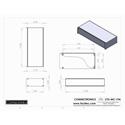Connectronics CTX-MC-19A  Alum Project Box Cabinet 17 X 7 X 3.5