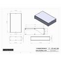 Connectronics CTX-MC-20A  Alum Project Box Cabinet 17 X 10  X 3.5