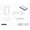 Connectronics CTX-MC-22A  Alum Project Box Cabinet 12.75 X 7 X 1.75