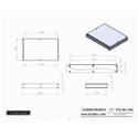 Connectronics CTX-MC-23A  Alum Project Box Cabinet 12.75 X 10  X 1.75
