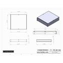 Connectronics CTX-MC-24A  Alum Project Box Cabinet 12.75 X 14  X 1.75