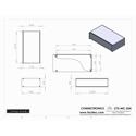 Connectronics CTX-MC-25A  Alum Project Box Cabinet 12.75  X 7  X 3.5