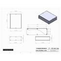 Connectronics CTX-MC-26A  Alum Project Box Cabinet 12.75  X 10  X 3.5