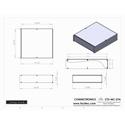 Connectronics CTX-MC-27A  Alum Project Box Cabinet 12.75  X 14  X 3.5