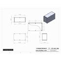 Connectronics CTX-MC-28A  Alum Project Box Cabinet 4 X 10 X 6