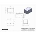 Connectronics CTX-MC-29A  Alum Project Box Cabinet 6 X 10 X 6