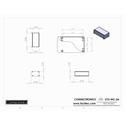 Connectronics CTX-MC-2A  Alum Project Box Cabinet 6 X 3 X 2
