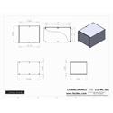 Connectronics CTX-MC-30A  Alum Project Box Cabinet 8  X 10 X 6