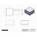 Connectronics CTX-MC-31A  Alum Project Box Cabinet 10  X 10 X 6