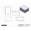 Connectronics CTX-MC-32A  Alum Project Box Cabinet 12  X 10 X 6