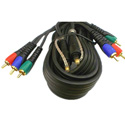Connectronics Component Video 3RCA-3RCA Cable With Toslink Fiber Optic Audio - 6 Foot
