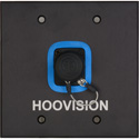 Custom 2 Gang Wall Plate - Single opticalCON DUO Fiber with HooVision Engraving