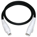 Milspec D1142025WH 2/0 Stage Lighting Cable with 400A Camlock Ends - White - 25 Foot