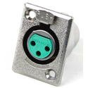 Switchcraft D3F 3-Pin Female XLR Panel/Chassis Mount Connector