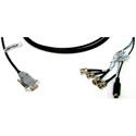 Connectronics 9-Pin Male To 4-BNC & SVHS Cable 17 Foot