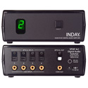 Inday DA4X-R SPDIF 4x1 Digital Audio Switcher with Power Supply and IR Remote