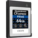 Delkin DCFX0-064 PRIME CFexpress Memory Card - 64GB