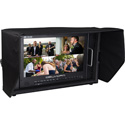 Delvcam DELV-12GSDI15 4K HDMI 12G-SDI Quad View IPS 6RU Rack Mountable Broadcast Monitor in Case - 15.6 inch