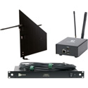 RF Venue DFINBDISTRO4-WAVE Diversity Fin Black DISTRO4 Package with WaveTower Remote Spectrum Monitoring System