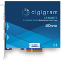 Digigram LX-DANTE Multichannel Dante PCIe Sound Card - PCIe 4x with 2 Ethernet Ports for 128 in/128 out on Dante/AES67