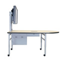 Dukane DCT6S Collaboration Table with Monitor Mount and Storage