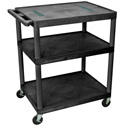 DaLite PIXMate PL9-54R with PLE3 Electrical Plastic Cart with 4 Inch Casters