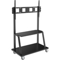 Tripp Lite DMCS60105XXDD Mobile TV Floor Stand Cart Height-Adjustable LCD 60-105 Inch Display